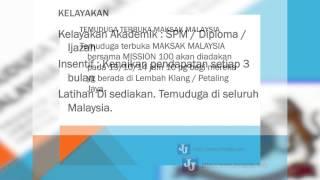 Temuduga Terbuka Graduan di MAKSAK Malaysia
