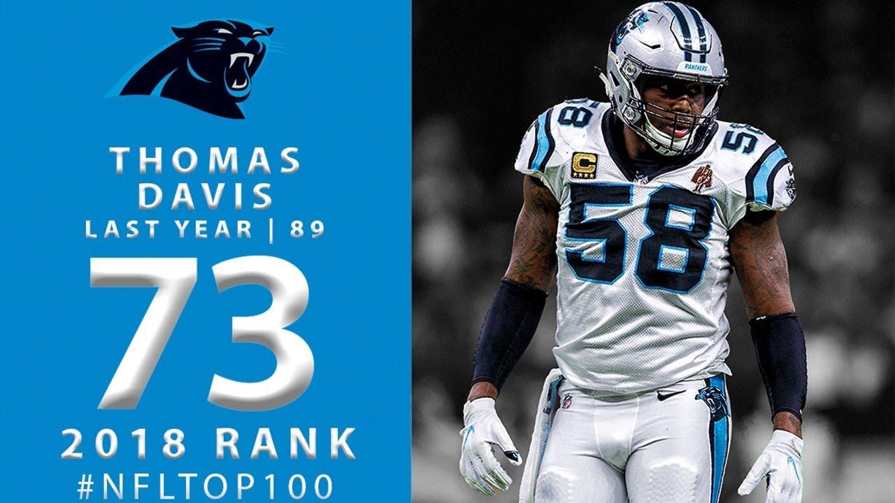 hot sale online 56d1b 54bbc #73: Thomas Davis (LB, Panthers) | Top 100 Players of 2018 | NFL