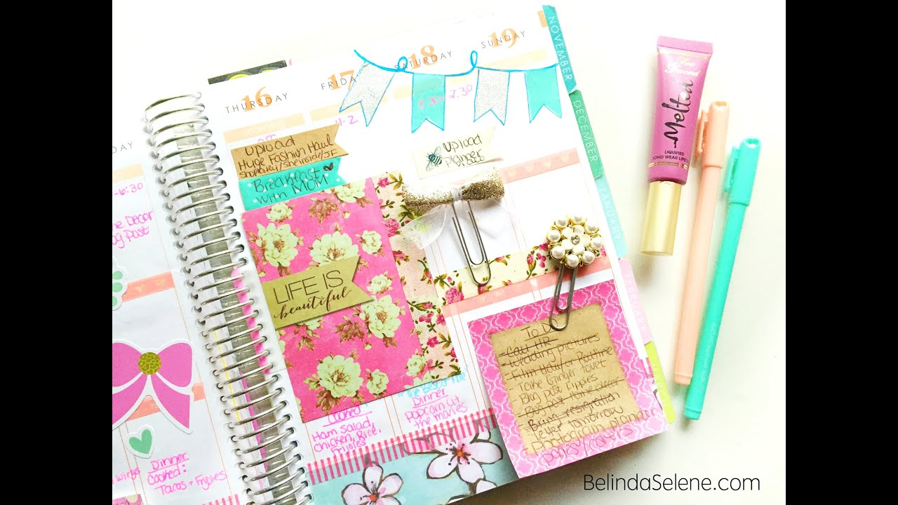 How to stay organized inside my erin condren planner for Planner design ideas