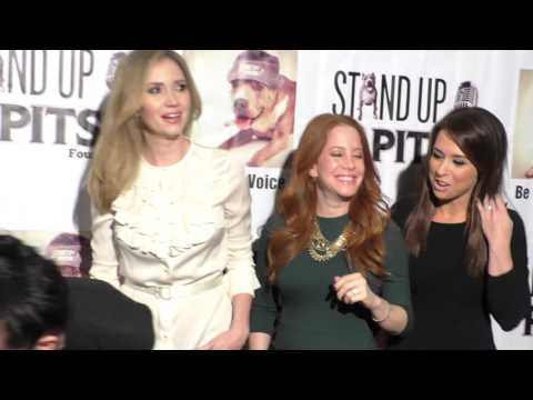 Briana Cuoco, Ashley Jones, Amy Davidson, Lacey Chabert and Rebecca Corry at Stand Up For Pits Comed