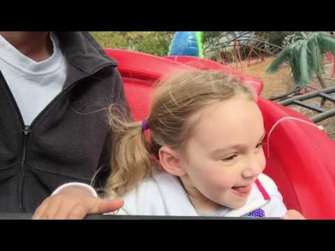 Chloe and the dragon roller coaster