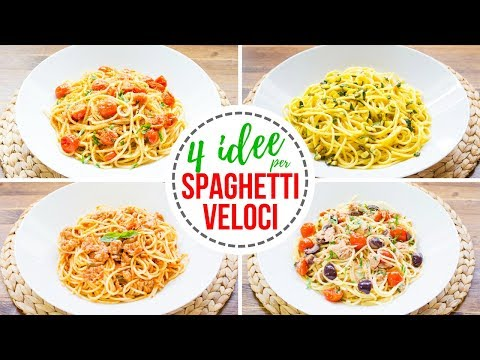 4 Idee per Spaghetti Veloci | Ricette per Pasta Facile e Veloce | 55Winston55