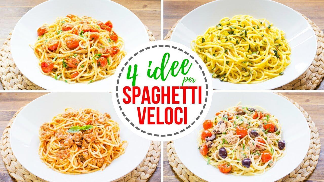 4 idee per spaghetti veloci ricette per pasta facile e for Ricette pasta veloci