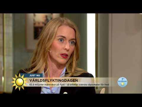 Världsflyktingdagen: Så jobbar svenska diplomater för fred - Nyhetsmorgon (TV4)