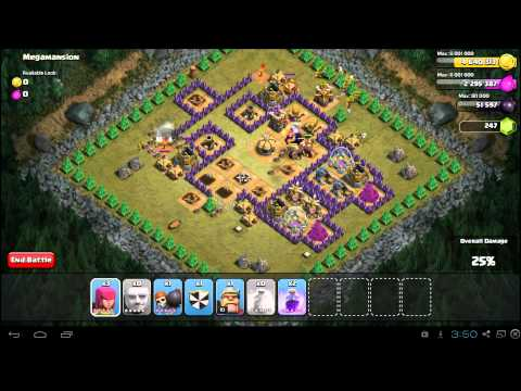 Clash of Clans Megamansion 3 Star Campaign Guide TH8