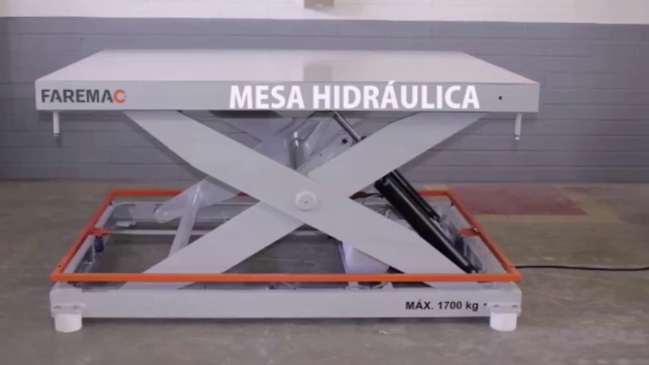 Mesa Elevadora Hidrulica Plataforma Pantogrfica  YouTube