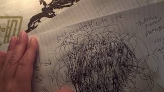 ASMR Writing, Drawing and Paper Sounds (No Talking)