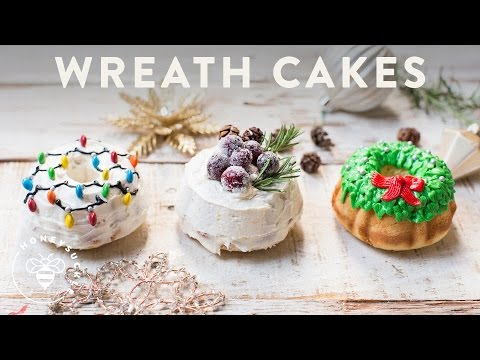 3 Holiday WREATH CAKES 🎄🍰🎅 - HOLIDAY FOODIE COLLAB!