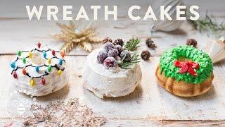 3 Holiday WREATH CAKES