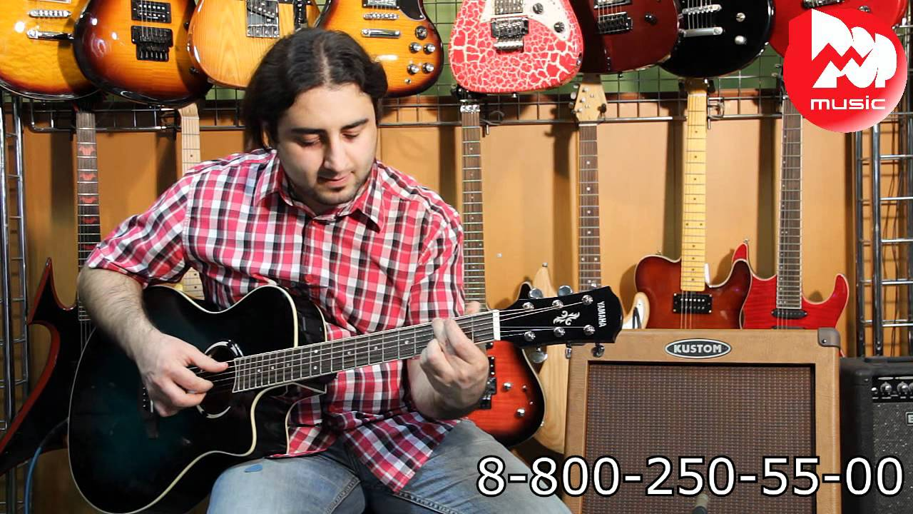 Электроакустическая гитара IBANEZ V72ECE BLACK - YouTube