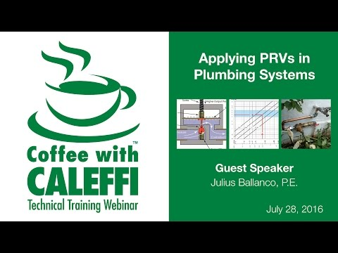 Applying PRVs in Plumbing Systems