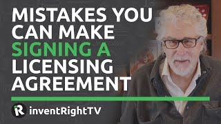 Mistakes You Can Make Signing a Licensing Agreement