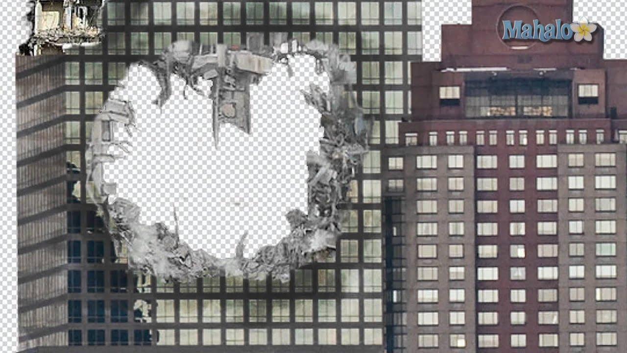 Photoshop Tutorial Destroy City Blend Building Hole