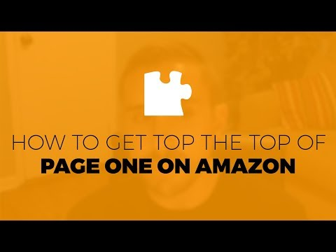 How to get to the TOP of Page ONE on Amazon