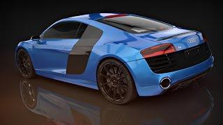Audi R8 v10 plus 3Ds Max Timelapse