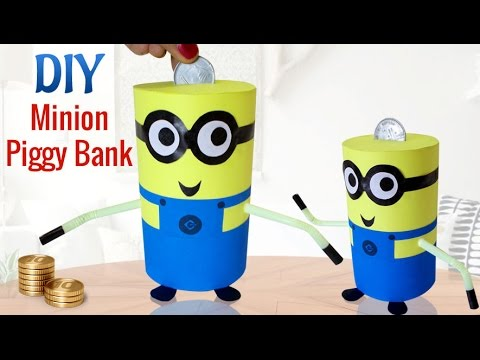 diy minions crafts for kids projects how to make recycled diy piggy bank craft kids activities