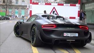 Matt Black Porsche 918 Spyder With Weissach Package In Zürich: Startup & Revs!