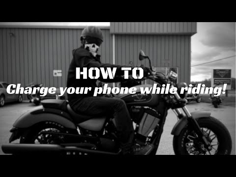 HOW TO: Install USB cable to charge phone while riding!