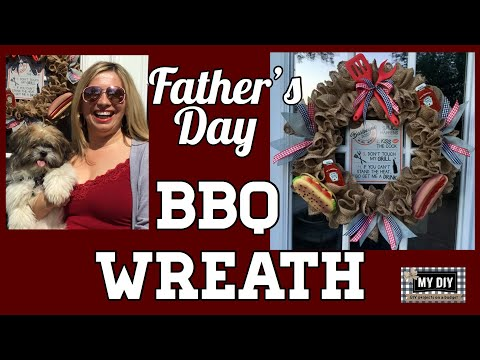 father's-day-wreath-|-bbq-decorations-|-easy-burlap-wreath