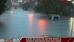SONA: Ilang bahagi ng Metro Manila, binaha matapos ang biglaang pagbuhos ng ulan