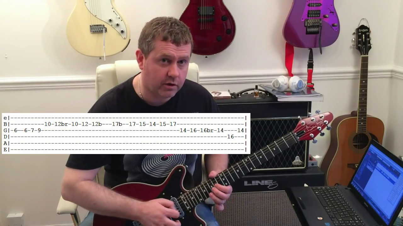 queen hammer to fall guitar tutorial guitar tab youtube. Black Bedroom Furniture Sets. Home Design Ideas