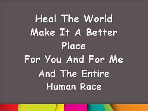 Lirik Lagu Michael Jackson Heal The World Youtube