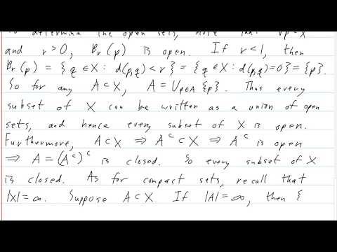 Baby Rudin Chapter 2 Exercise 10 - YouTube