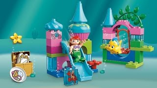 Lego Duplo Disney Princess Ariel's Undersea Castle, The Little Mermaid, Flounder, Sebastian
