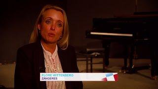 Flore Wittenberg repeteert voor Sinatra-show