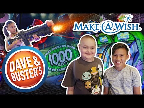I WON A HUGE JACKPOT AGAIN!!! Dalton\'s Make-A-Wish at Dave and Busters Arcade!