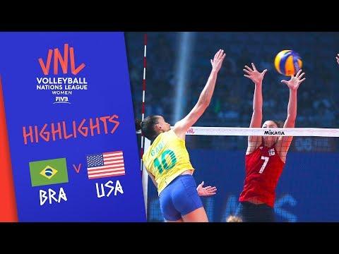 BRAZIL vs. USA – Highlights Women | FINAL | FIVB Volleyball Nations League 2019