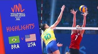 BRAZIL vs. USA - Highlights Women | FINAL | FIVB Volleyball Nations League 2019