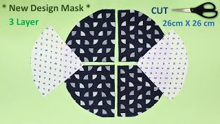 New Design 3 Layer Face Mask Sewing Tutorial Breathable Mask DIY How to Make Face Mask Cloth