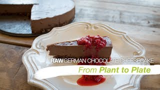 Raw German Chocolate Cheesecake