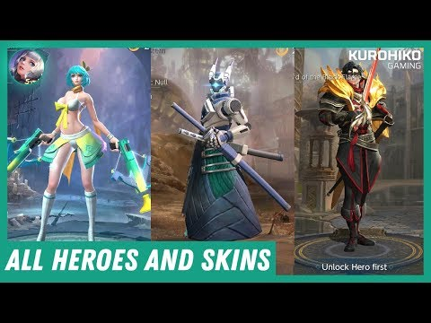 All Heroes and Skins (60 FPS) - MOBA War Song ウォーソング
