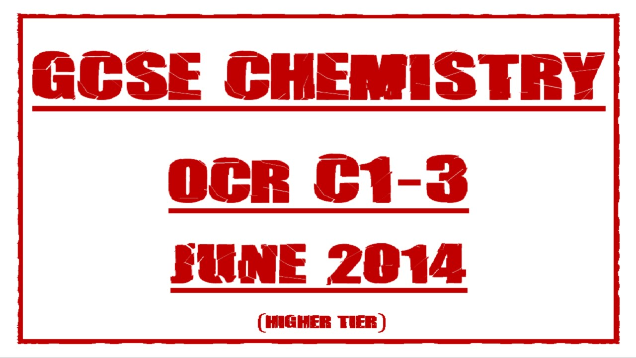 10th june 2014 aqa chemistry mark scheme