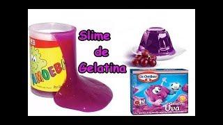 Slime de gelatina  receita que da super certo