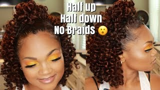 Half Up Half Down Braidless Crochet| Feat. Trendy Tresses Serene Curls + GIVEAWAY!!(Closed)