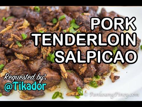 Pork Tenderloin Salpicao Recipe | How To Cook Salpicao Na Baboy | Panlasang Pinoy