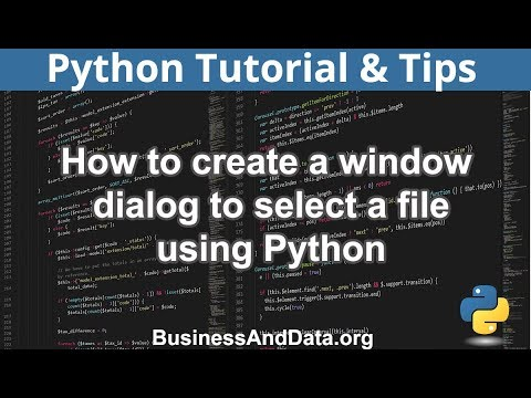 How to Create Window Dialog To Select File | Python Examples