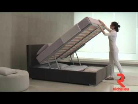 quincaillerie richelieu ensemble pour lit avec espace de rangement youtube. Black Bedroom Furniture Sets. Home Design Ideas