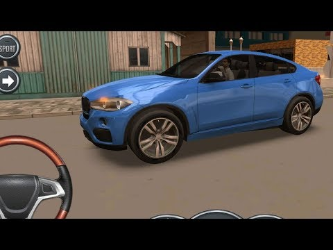 BMW X6 Driving School 2016, BMW X6 with Steering Wheel, Car Driving Games Mobile GamePlay