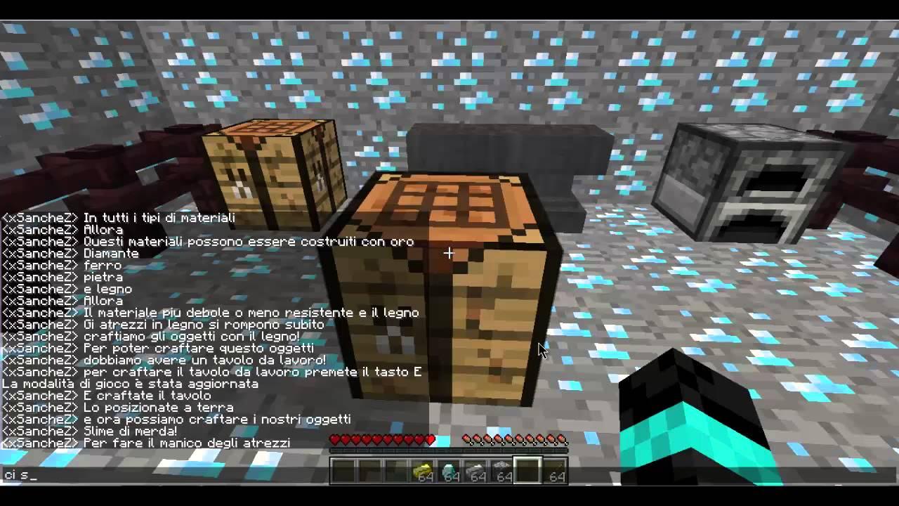 Tavolo Da Lavoro In Minecraft : Tutorial minecraft come costruire spada piccone pala falce ascia