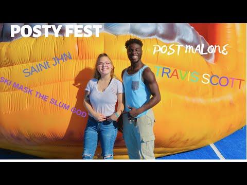 Post Malone's first ever Festival (Travis Scott, Ski Mask the slum god, Saint Jhn,Mosh Pits,etc)