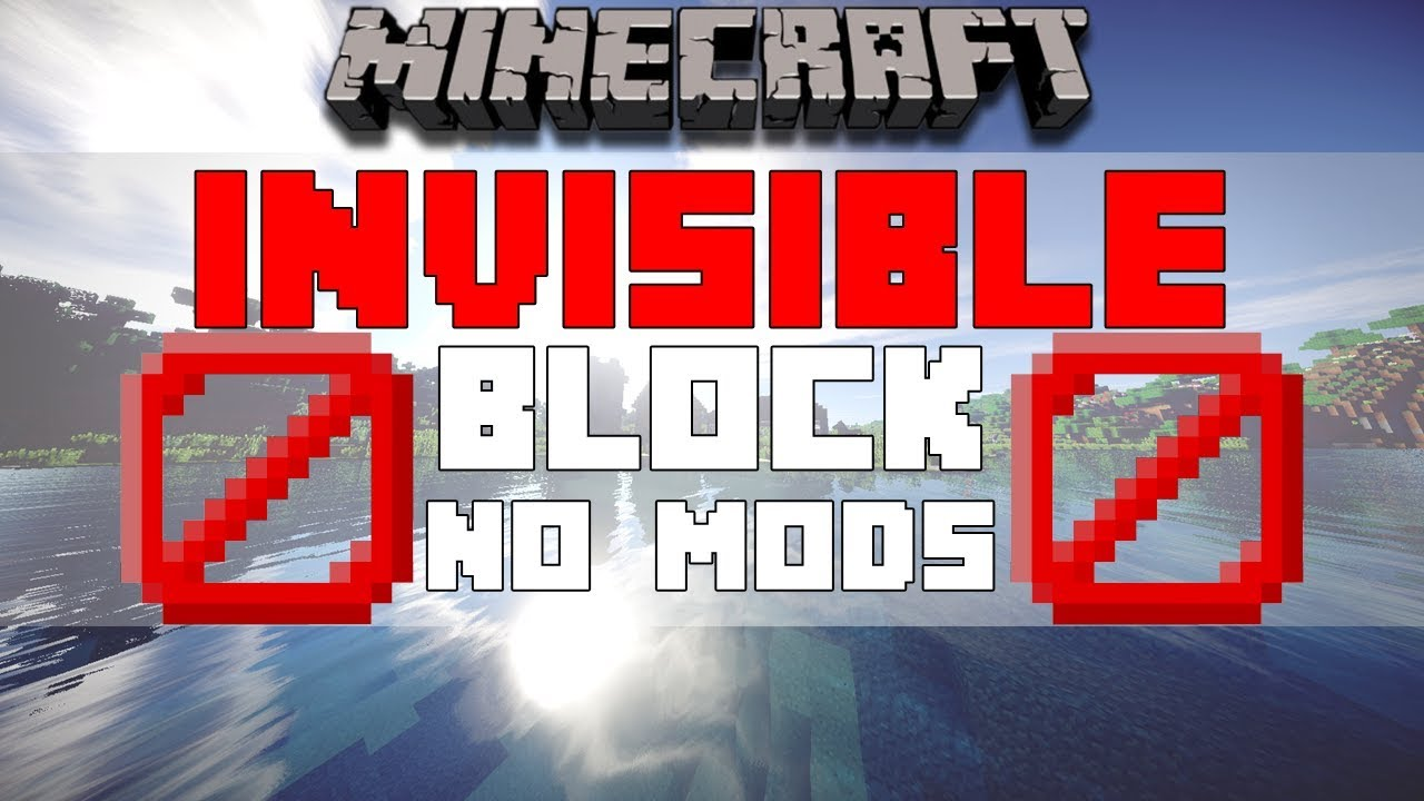 How To Get Invisible Blocks Barrier Blocks In Minecraft Bedrock Edition W Download Working Youtube