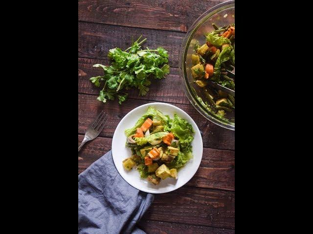 Baked Sweet Potato Salad With Coriander & Chili | Salad Recipes | Slurrp