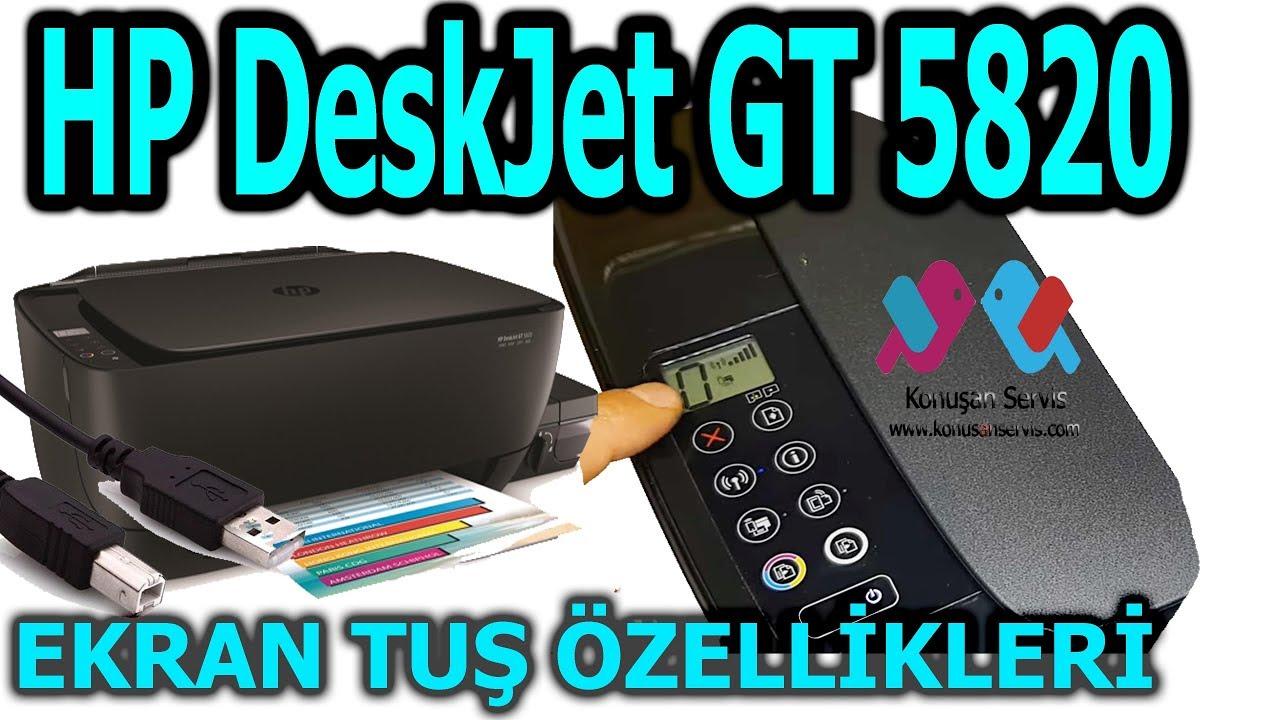 Hp Gt-5820 Yazıcı Ekran Üzerindeki Tuşlar  Ne işe yarar Bölüm. 547. 4K