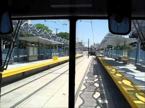 Metro Expo Line eastbound cab ride -- La Cienega to 7th/Metro