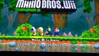 Newer Super Mario Brothers plays on usbloader gx on the WiiU without  riivolution