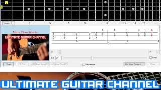 [Guitar Solo Tab] More Than Words (Extreme)